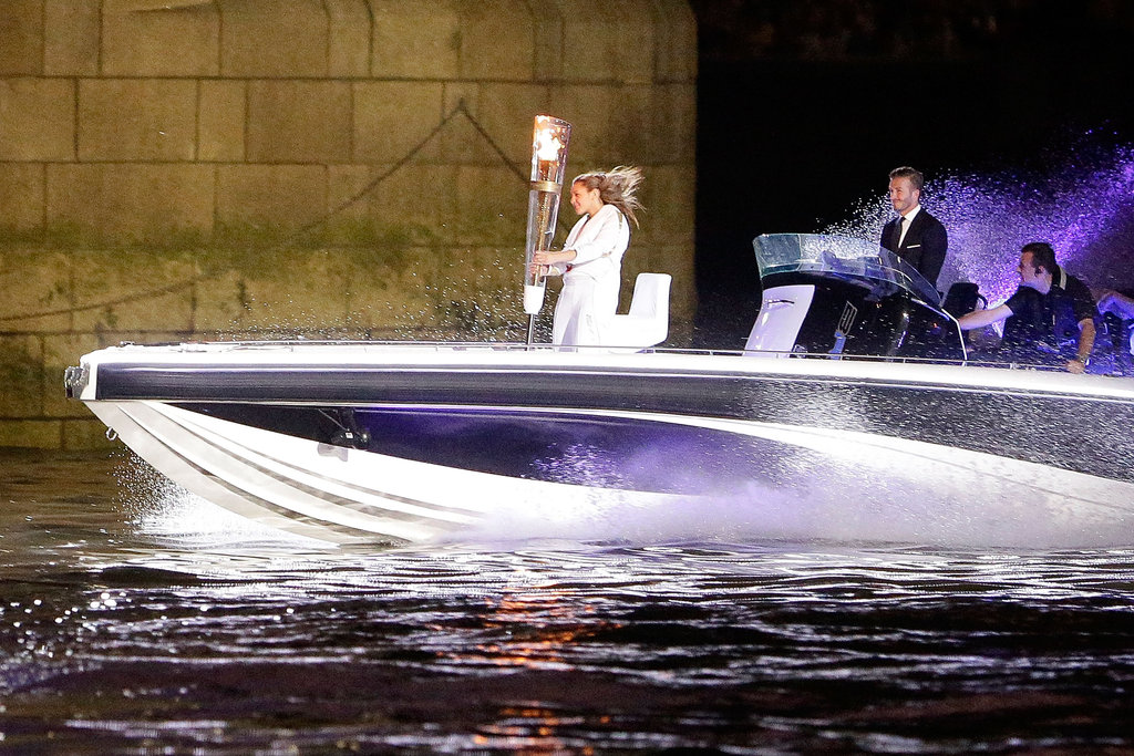 David Beckham drove the Olympic torch to the opening ceremony in July.