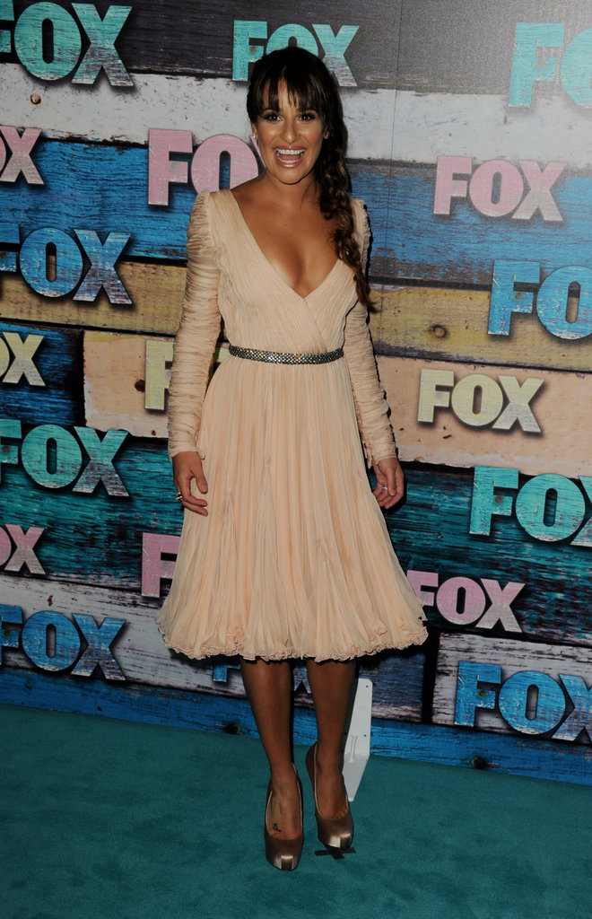 Lea Michele was all smiles at the FOX All-Star party at the TCAs in West Hollywood on July 23.