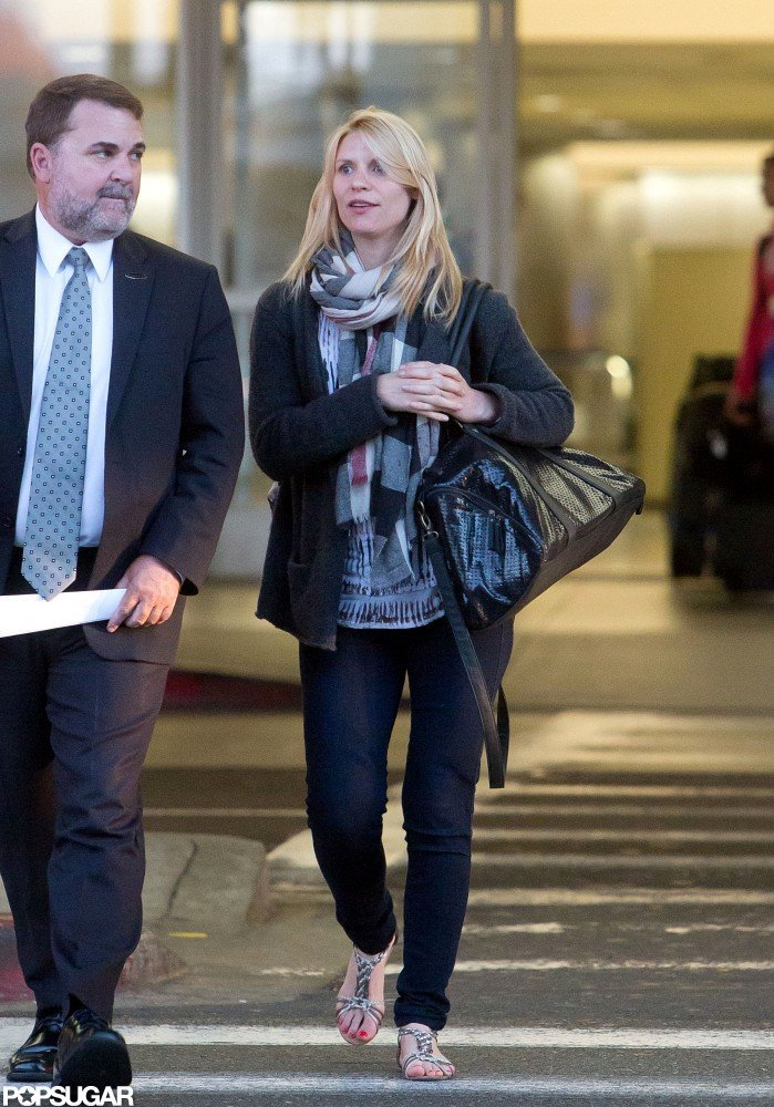Claire Danes landed at LAX.