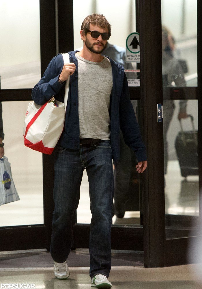 Hugh Dancy walked through LAX with Claire Danes.