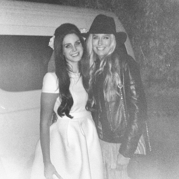 "Kylie Speer with the ""darling"" Lana Del Rey. Source: Instagram user kylights"