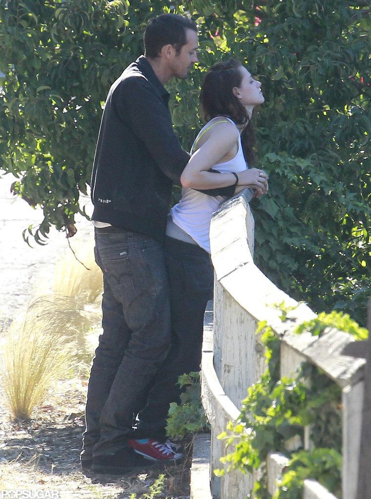 Kristen Stewart got intimate with Rupert Sanders.