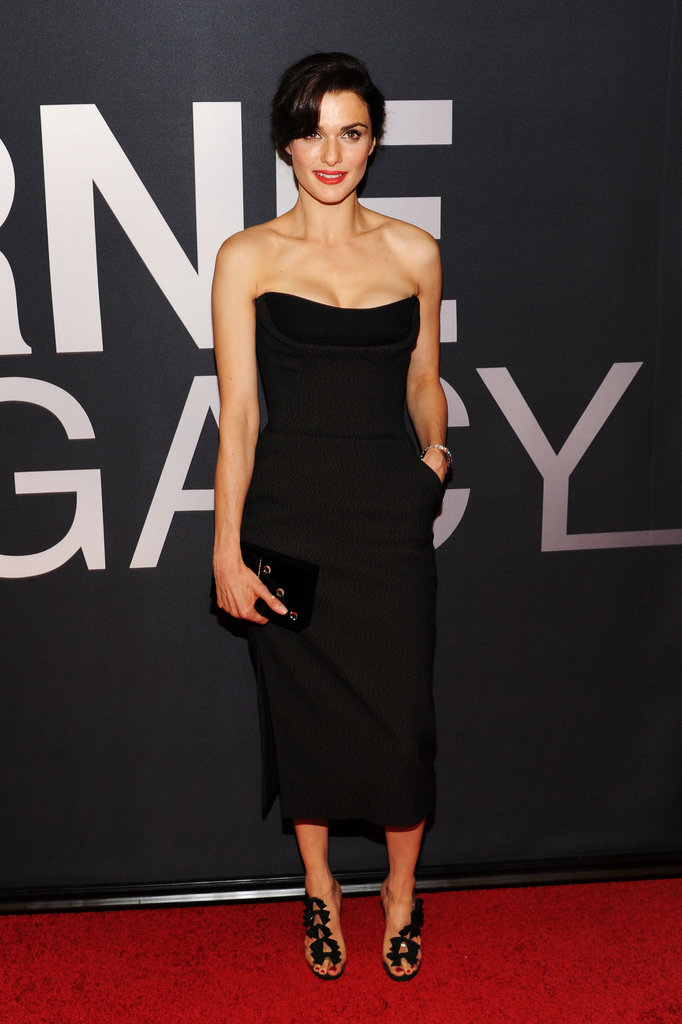 Rachel Weisz wore a sexy black Dior dress for the world premiere of The Bourne Legacy in NYC.