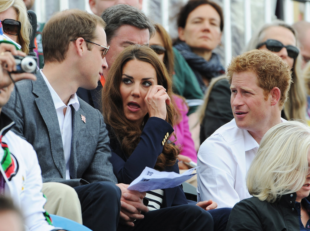 Prince William, Kate Middleton, and Prince Harry were out in the sun.