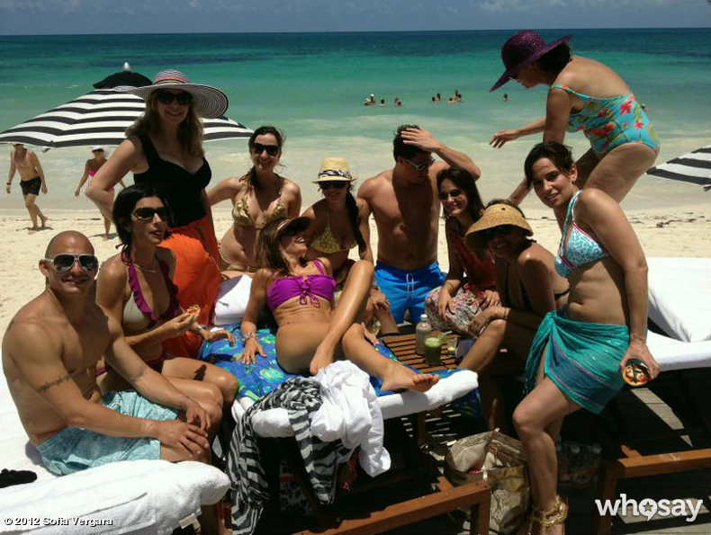 She wore a bikini to celebrate her 40th in Mexico during 2012. Source: Who Say user Sofia Vergara