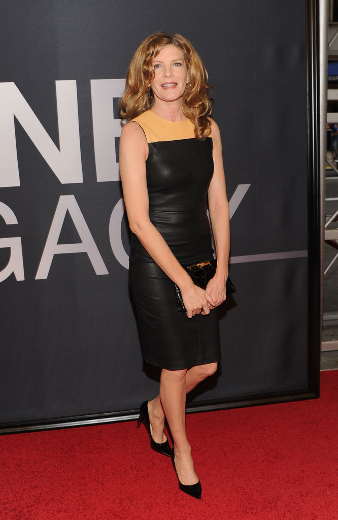 Rene Russo stepped onto the red carpet at The Bourne Legacy's world premiere in NYC.