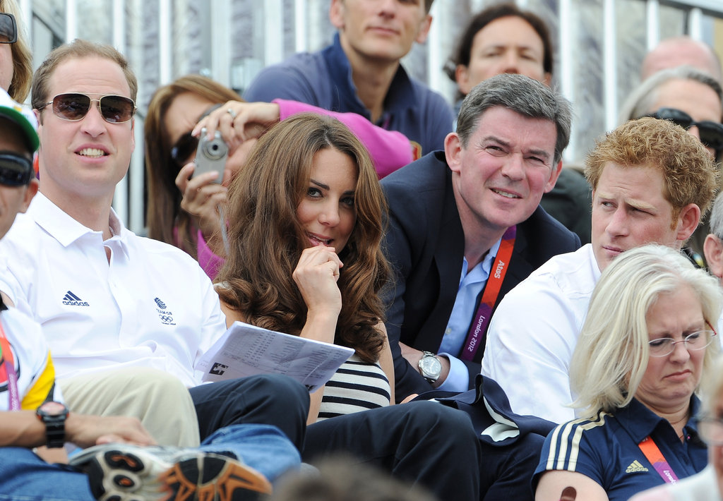 Prince William, Kate Middleton, and Prince Harry watched equestrian games.