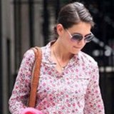 Katie Holmes's Floral J. Crew Blouse Works For Day, Play, and Work