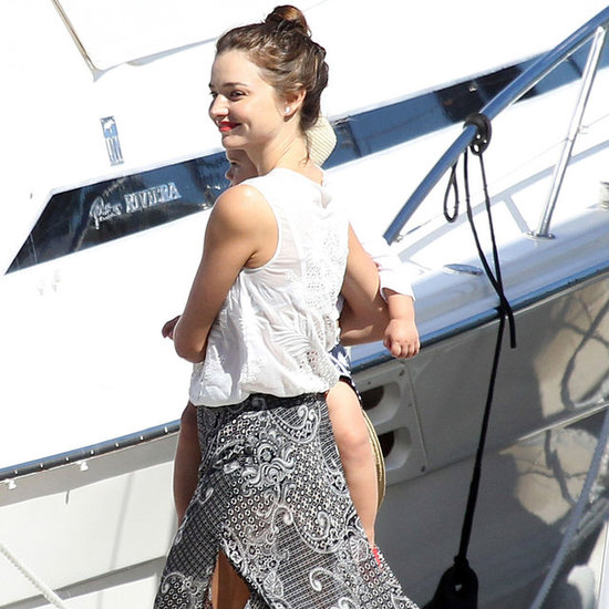 Miranda Kerr and Orlando Bloom on Yacht With Flynn