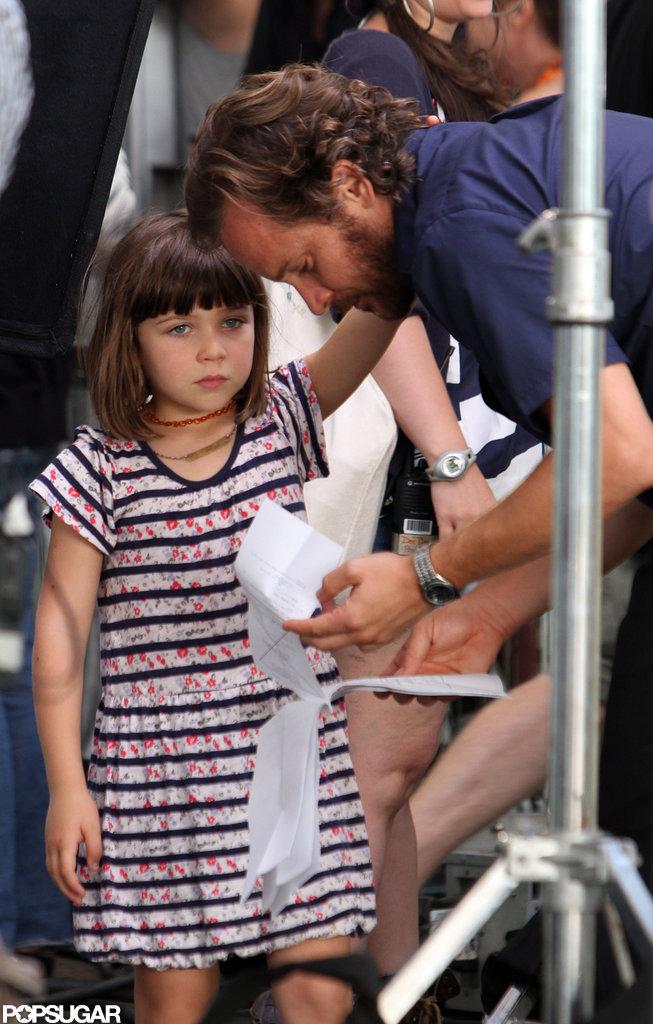 Peter Sarsgaard got a visit on set from daughter Ramona.