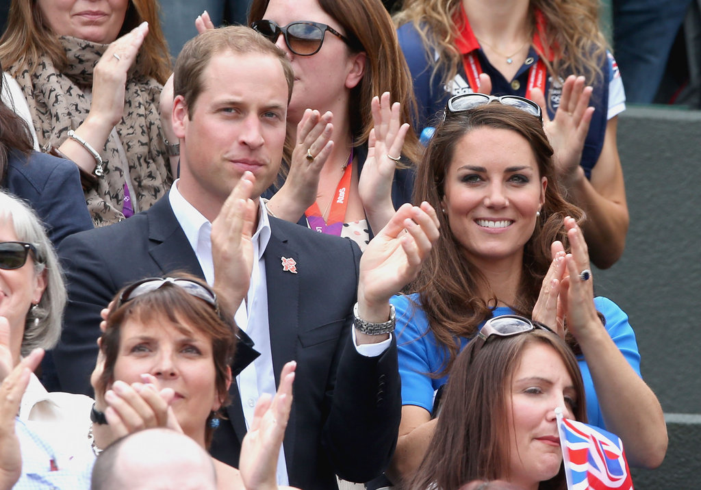 Prince William and wife Kate Middleton cheered for team Great Britain.