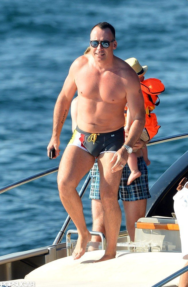 David Furnish got some sun while in Saint-Tropez.