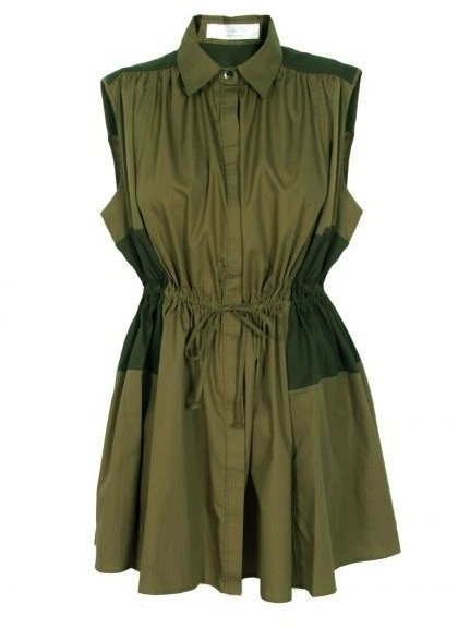 Military-inspired styling gets a cool, two-toned makeover. Plus, the drawstring detail injects a much more laid-back vibe, which makes us think this dress is ready for your weekend adventures.  Thakoon Addition Military Drawstring Shirt Dress ($380)
