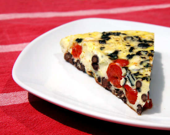 Red, White, Bean, and Basil Frittata