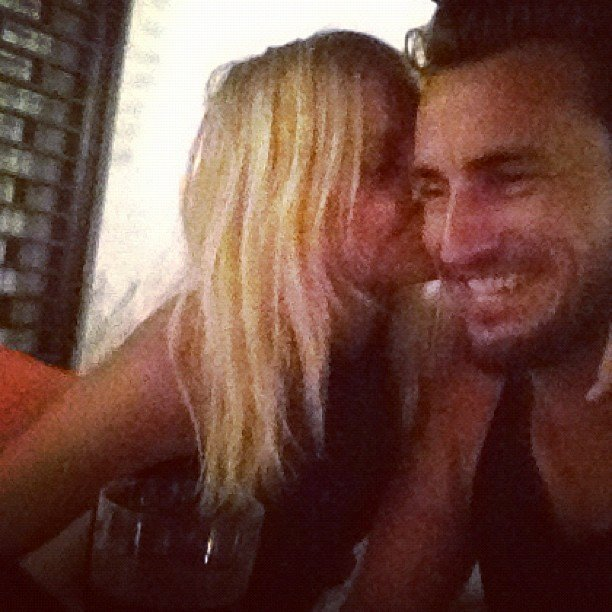 Lara Bingle kissed her boyfriend Gareth Moody during their getaway. Source: Instagram user mslbingle