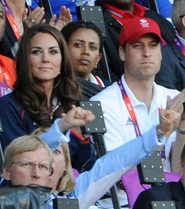 Kate Middleton and Prince William Cheering at Olympics
