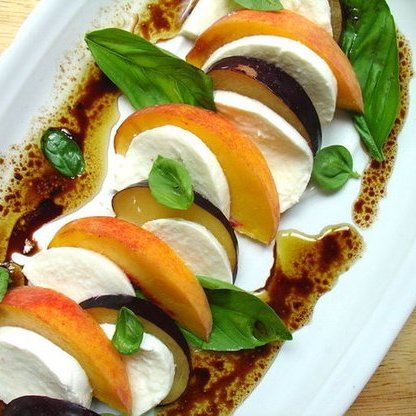 Stone Fruit Caprese Salad Recipe