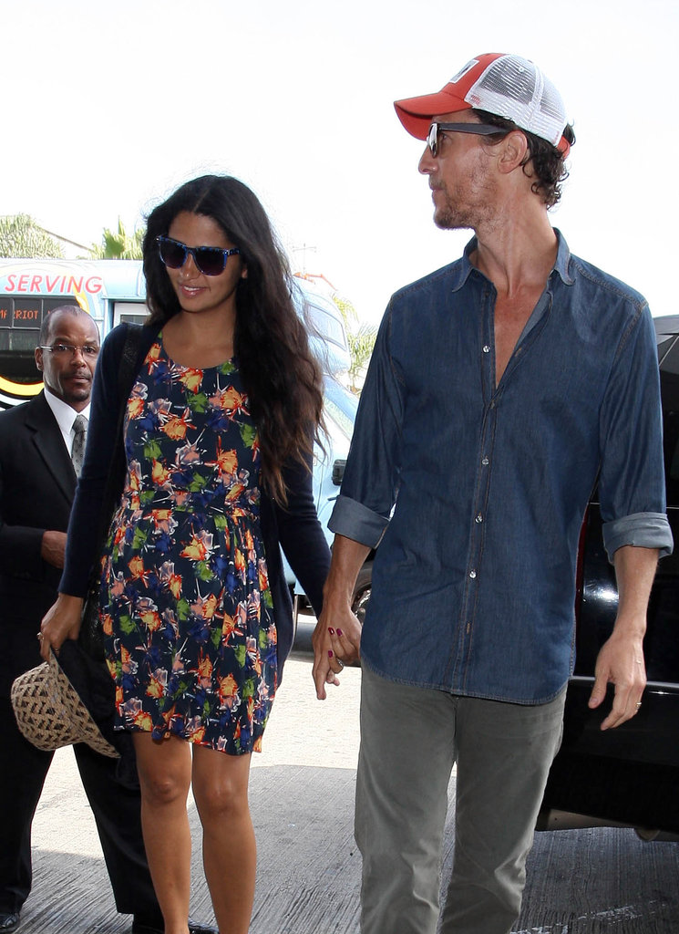 Matthew McConaughey and Camila Alves held hands at LAX.