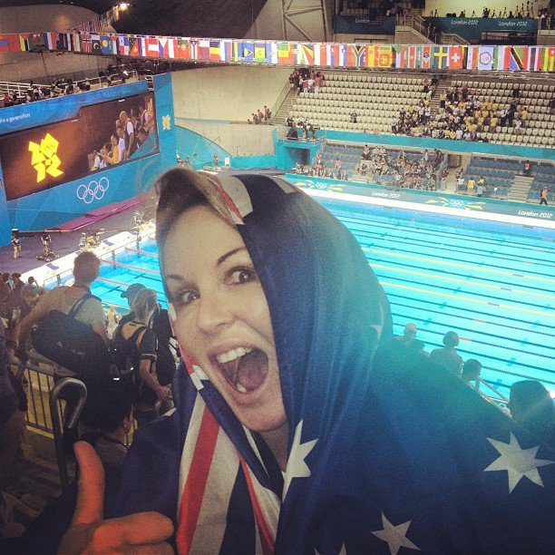 Charlotte Dawson showed off her Aussie pride. Source: Instagram user mscharlotted