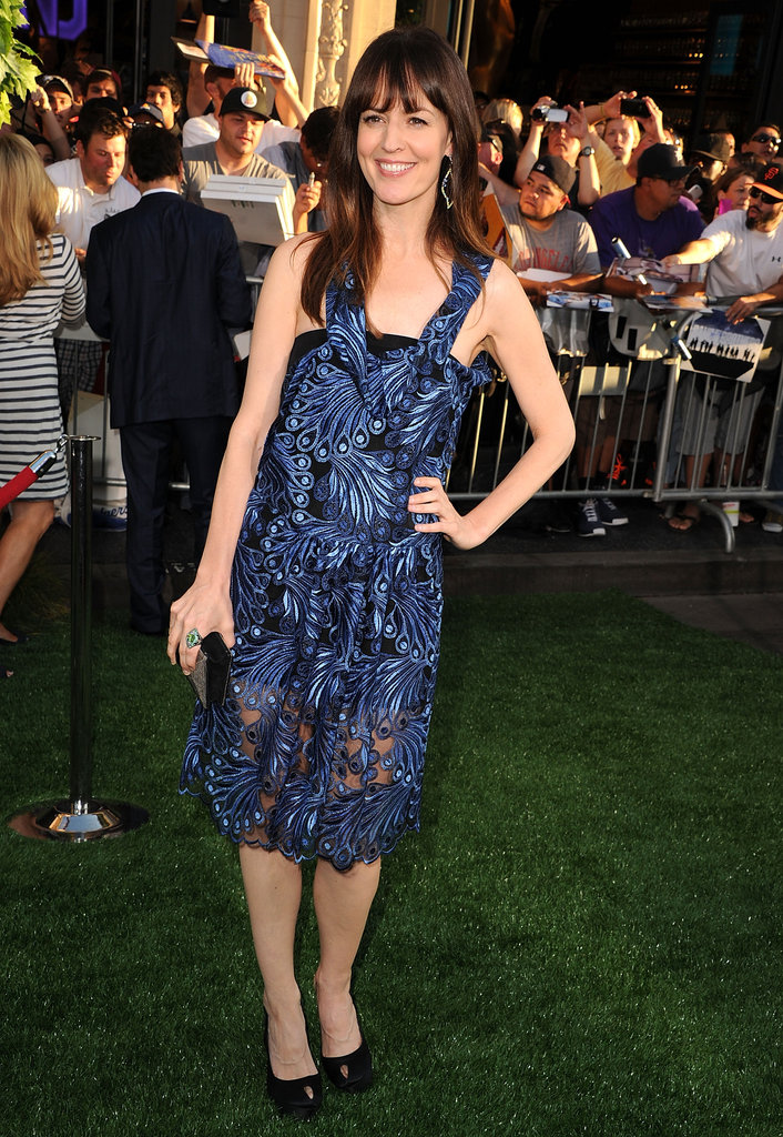 Rosemarie DeWitt donned a blue knee length dress for the premiere of her new film.