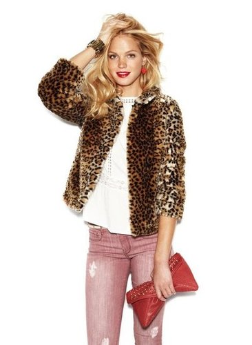 At the top of our shopping list for Fall? This leopard-printed fur jacket from Blanco.