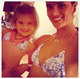 Alessandra Ambrosio and her daughter, Anja, wore matching bikinis.  Source: Instagram user alecambrosio