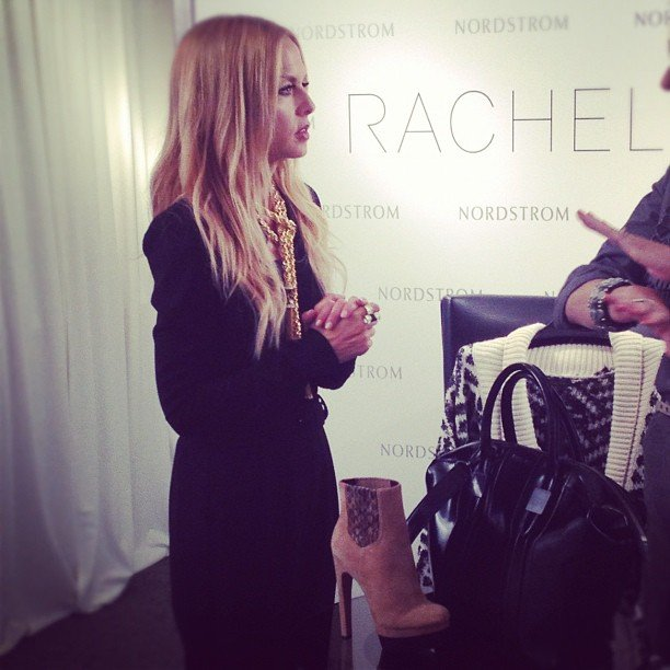 Rachel Zoe presented her Fall 2012 collection to Nordstrom buyers. Source: Instagram user rachelzoe