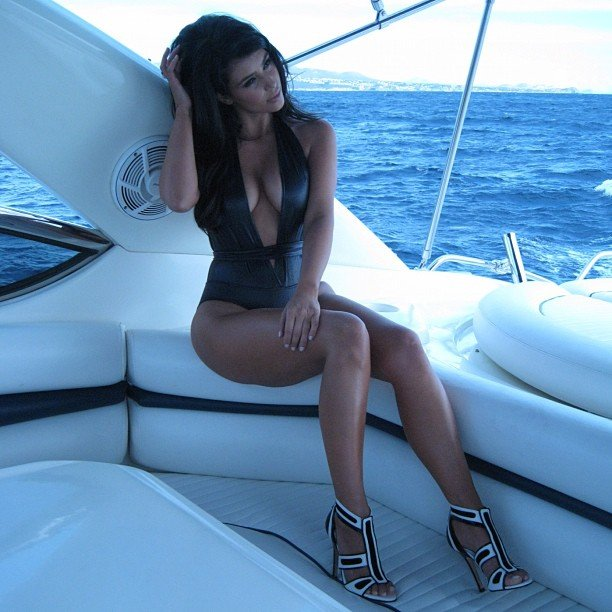 Kim Kardashian had a luxurious yacht day.  Source: Instagram user kimkardashian