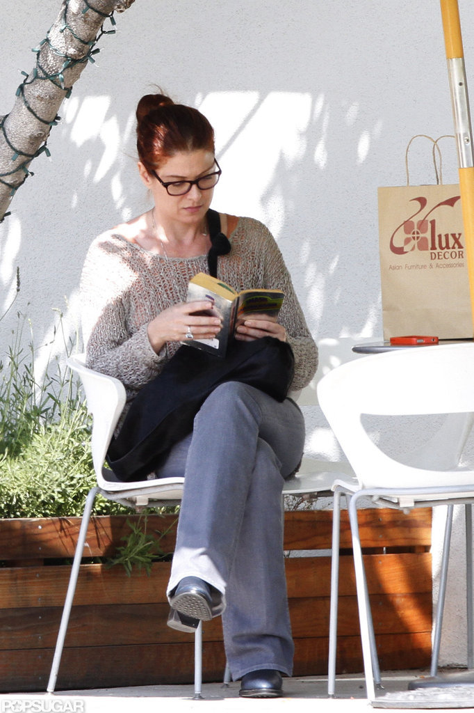 Debra Messing did prep work for her new series by reading Smash in LA in April 2011.