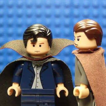 Sherlock TV Show as Legos
