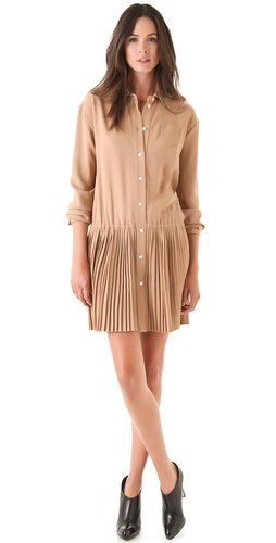 No. 21 Dress with Pleated Skirt