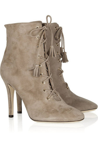 Jimmy Choo | Cinder suede lace-up ankle boots | NET-A-PORTER.COM