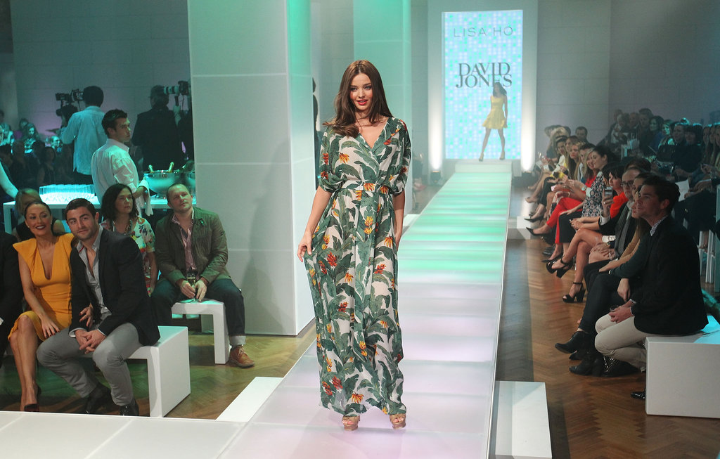 Miranda Kerr posed for a picture on the runway.