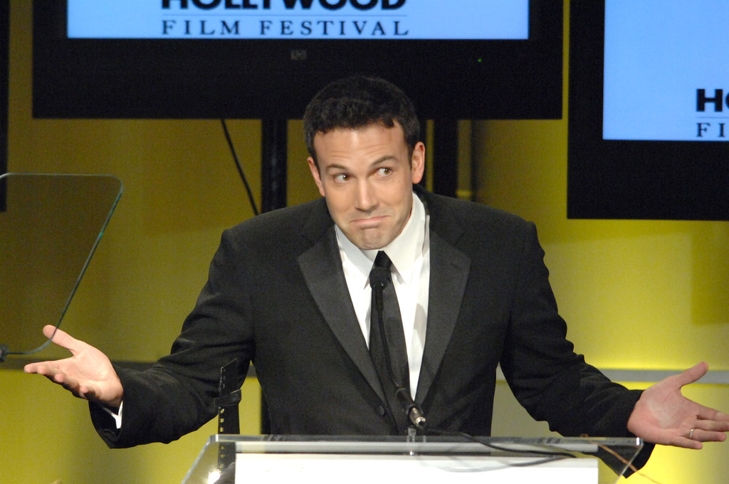Ben Affleck acted coy at LA's Hollywood Awards in October 2006.