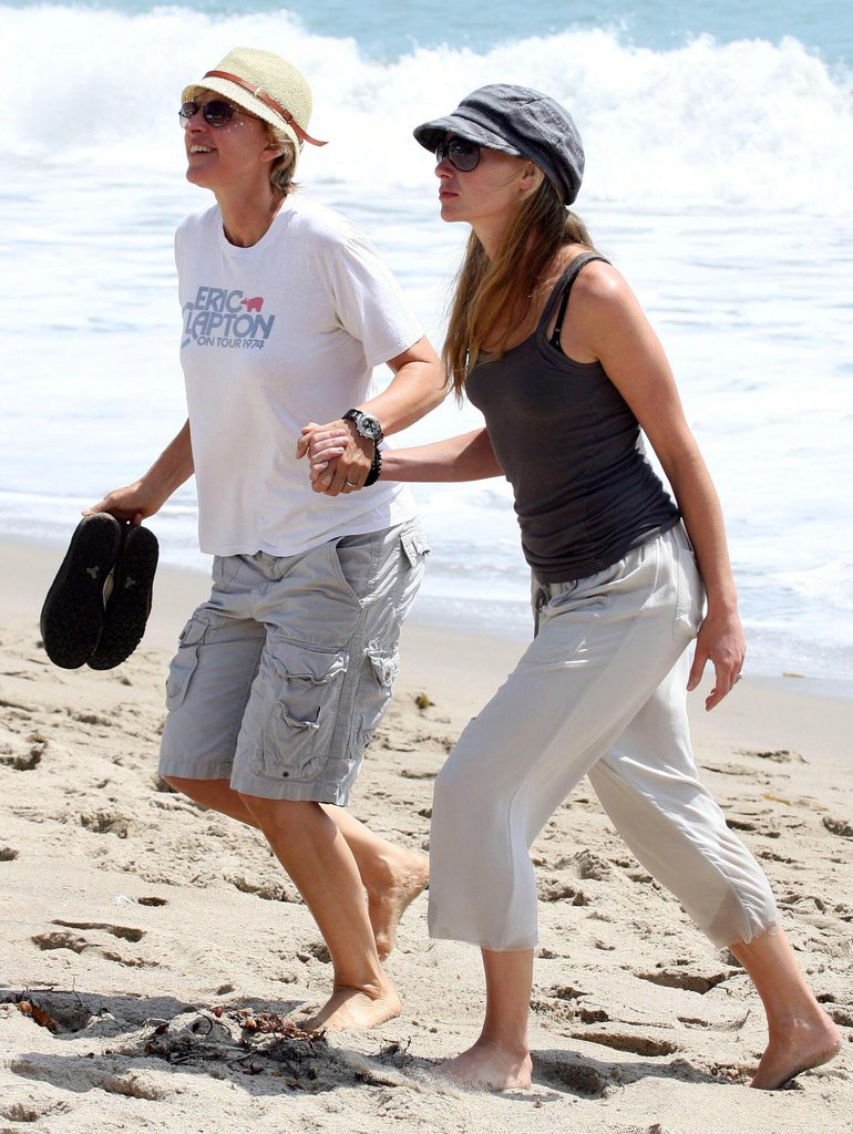 They put their feet in the Malibu sand during an August 2008 afternoon.