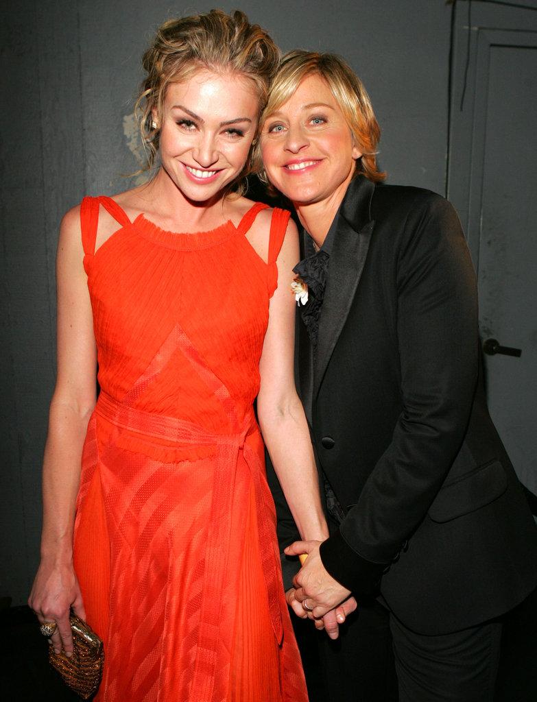 Ellen held Portia's hand during the September 2005 Emmys.