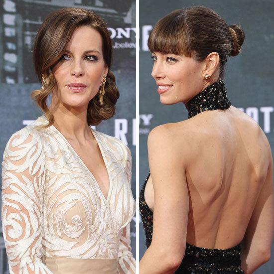 Beauty Poll: Kate Beckinsale's Romantic Chignon Vs Jessica Biel's Sleek Bun