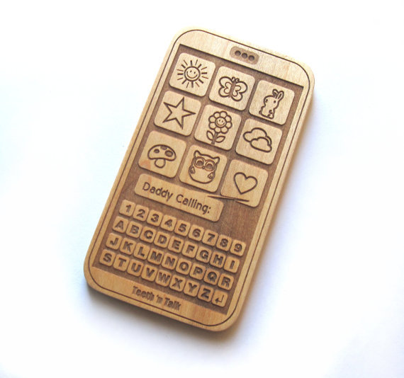Wood Baby Toy Cell Phone