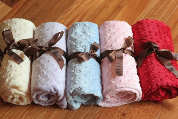 Baby Minky Dotted Blanket