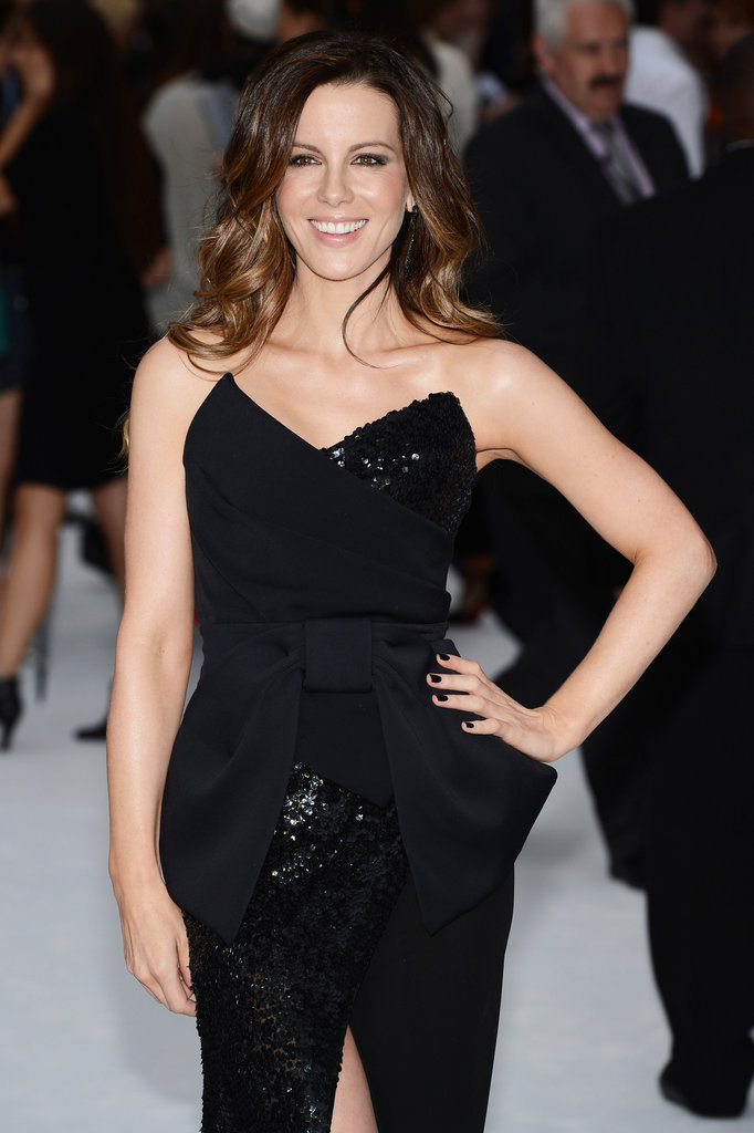 Kate Beckinsale was all smiles at the Total Recall premiere.