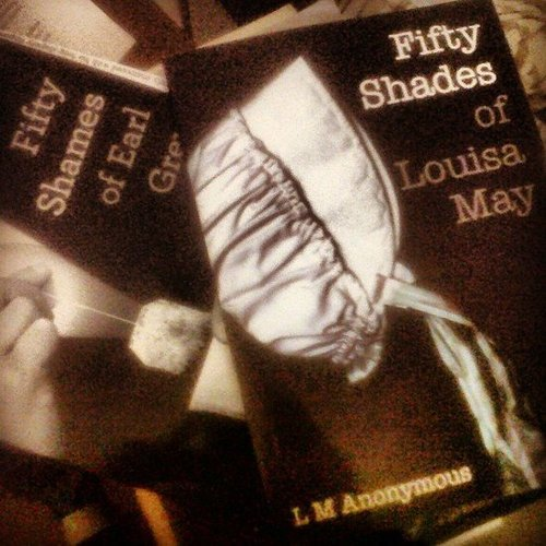 Fashserendipity was diving into Fifty Shades of Grey parody books.