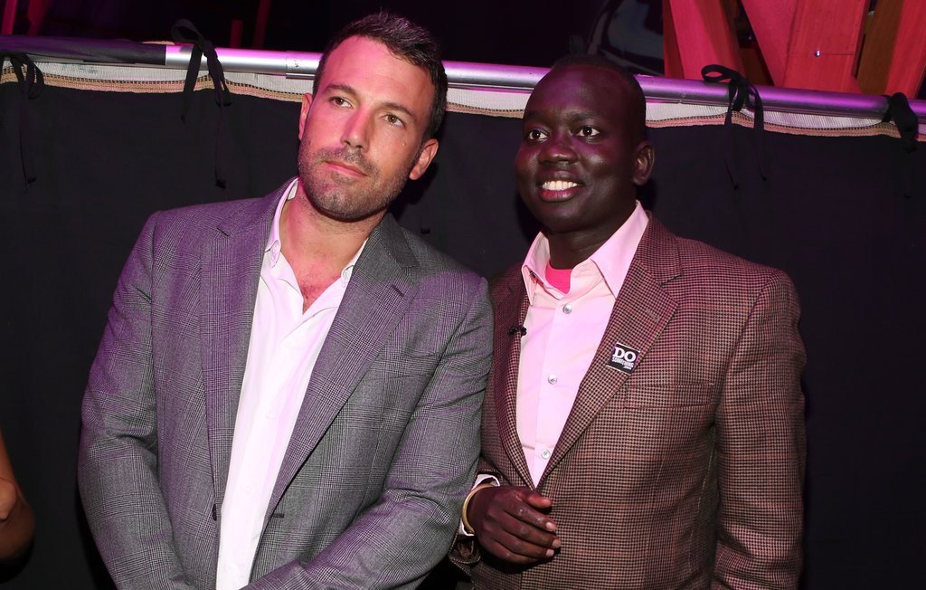 Ben Affleck posed with Manyang Reath Kher backstage at the Do Something Awards.