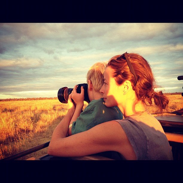 Christy Turlington took a photo safari with her family. Source: Instagram user cturlington