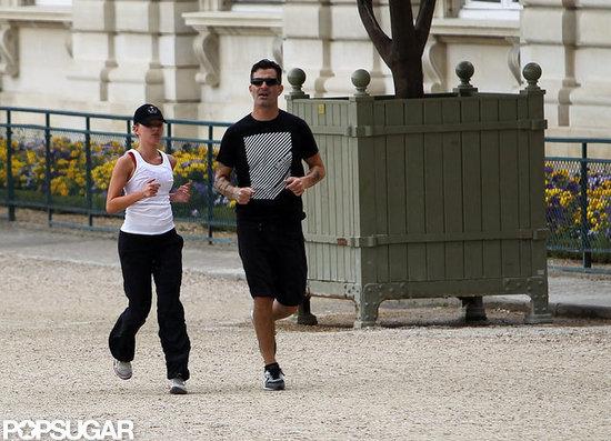 Scarlett Johansson ran in Paris with Nate Naylor.