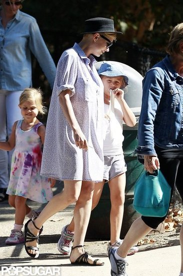 Michelle Williams held Matilda's hand on the way to the park.