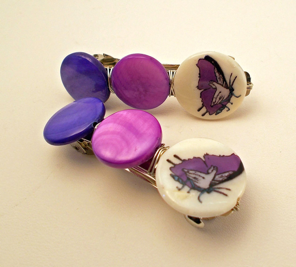 Butterfly Colorblock French Barrette Set ($9)