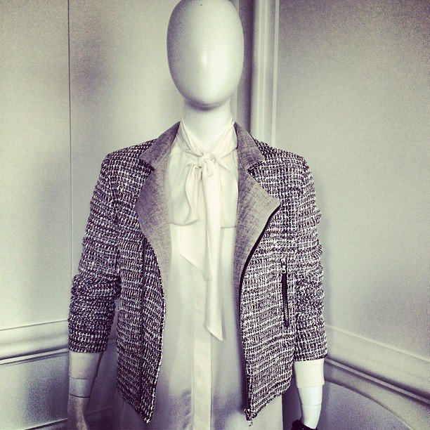 Between bites, we got a first look at The Outnet's in-house Iris & Ink collection. This tweed blazer is such a closet staple.