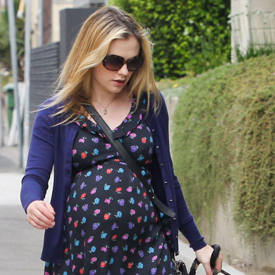 Anna Paquin Wearing Floral Dress