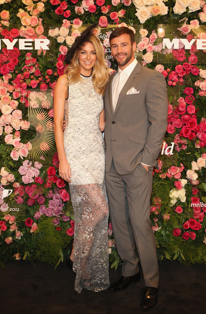 Jennifer Hawkins and Kris Smith