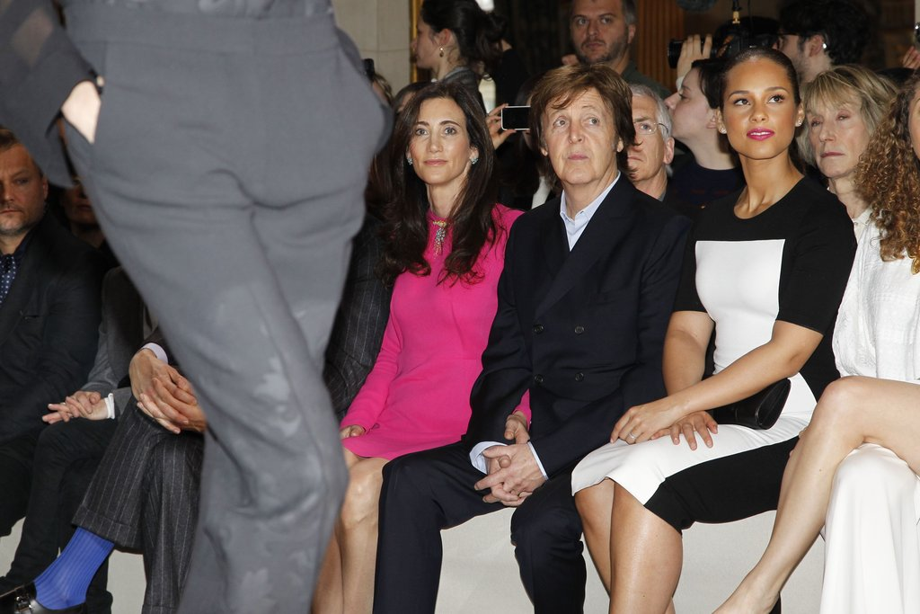Nancy Shevell and her husband, Paul McCartney, joined Alicia Keys for the Paris Stella McCartney show in March 2012.